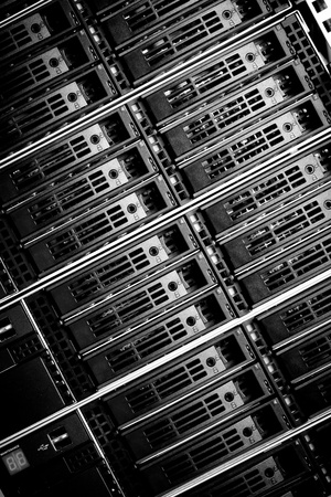 Data center with hard drives Stock Photo - 12914062