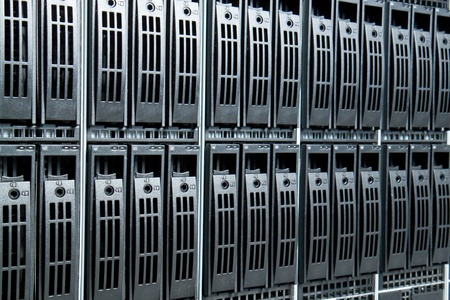 Data center with hard drives Stock Photo - 12913853
