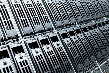 Data center with hard drives Stock Photo - 12913902