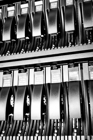 detail of data center with hard drives Stock Photo - 13003312