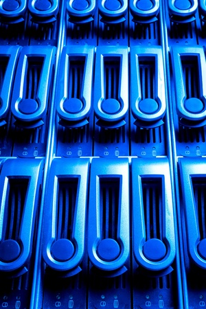 detail of data center with hard drives Stock Photo - 13003286