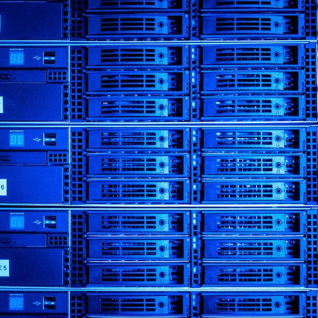 Data center with hard drives Stock Photo - 13003205