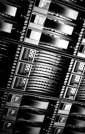 detail of data center with hard drives Stock Photo - 13003347