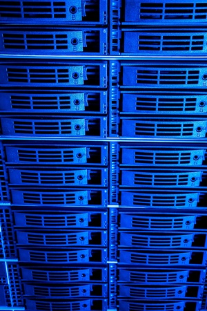 Data center with hard drives Stock Photo - 13003227