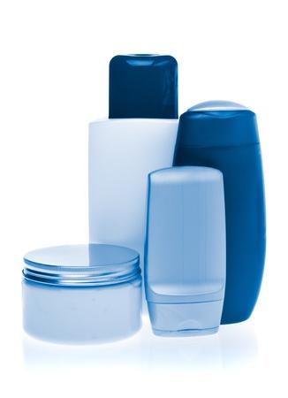 set of cosmetic bottles isolated on white background Stock Photo - 13003732