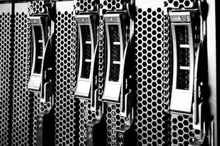 detail of data center with hard drives Stock Photo - 13003382
