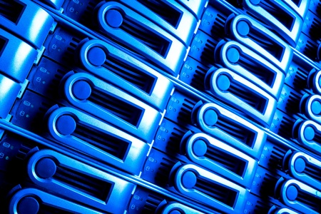 detail of data center with hard drives Stock Photo - 13003214