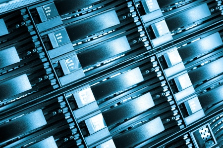 detail of data center with hard drives Stock Photo - 13003223