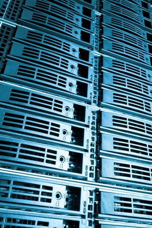 Data center with hard drives Stock Photo - 13003193