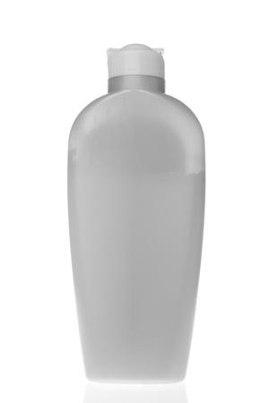 cosmetic bottle isolated on white background photo