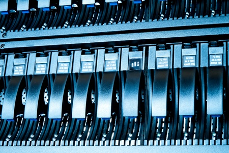 detail of data center with hard drives Stock Photo - 13003224