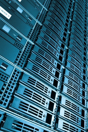 Data center with hard drives Stock Photo - 13041802