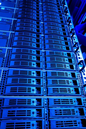 Data center with hard drives Stock Photo - 13041803