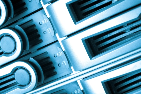 detail of data center with hard drives Stock Photo - 13041713