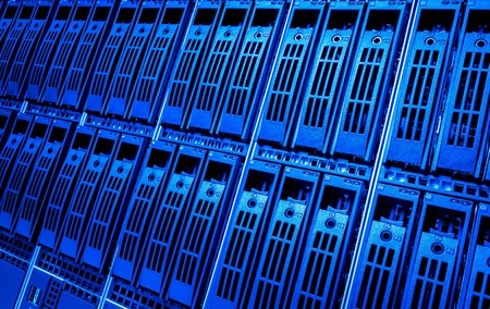 nas: Data center with hard drives