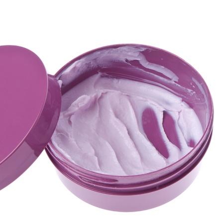 cosmetic cream in container isolated on white background Stock Photo - 13097960