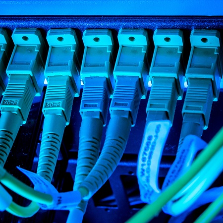 optic fiber hub as part of internet infrastructure Stock Photo - 13098668