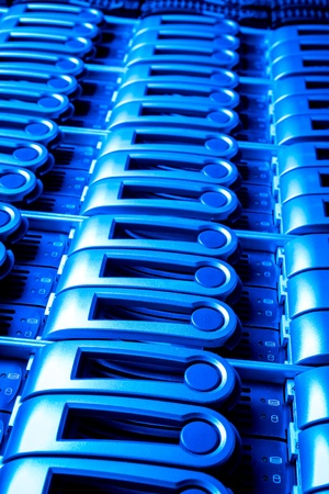 detail of data center with hard drives Stock Photo - 13098503