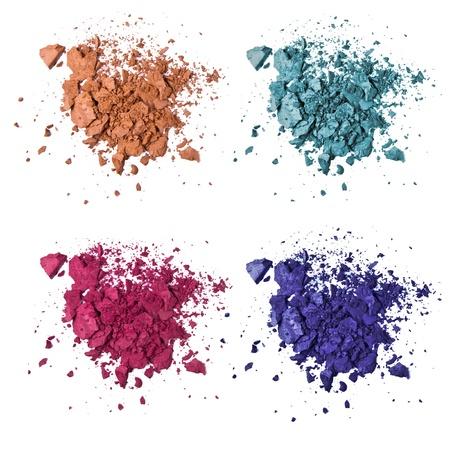 eyemakeup: set of various crushed eyeshadows Stock Photo