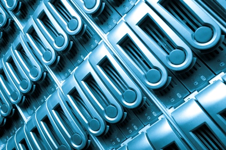 detail of data center with hard drives Stock Photo - 13098674