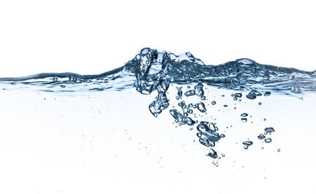 nettoyer: �claboussures d'eau avec des bulles tourn� sur fond blanc