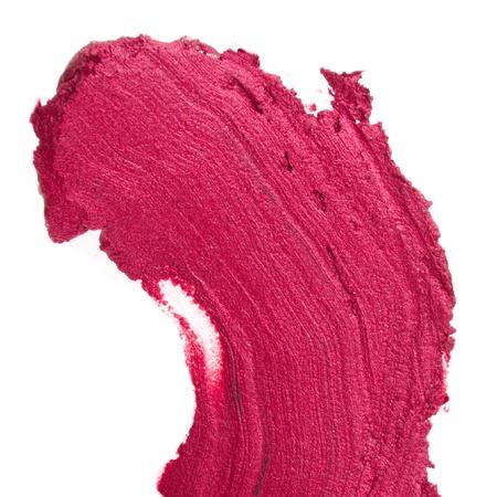 eyemakeup: smudged lipsticks isolated on white background Stock Photo