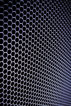 abstract metal grid background Stock Photo - 13150343