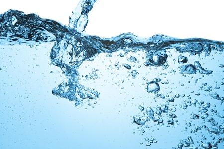 Nahaufnahme von Blasen im blauen Wasser Standard-Bild - 13150338