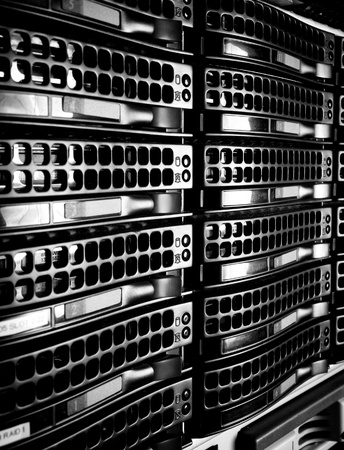 Data center with hard drives Stock Photo - 13275197