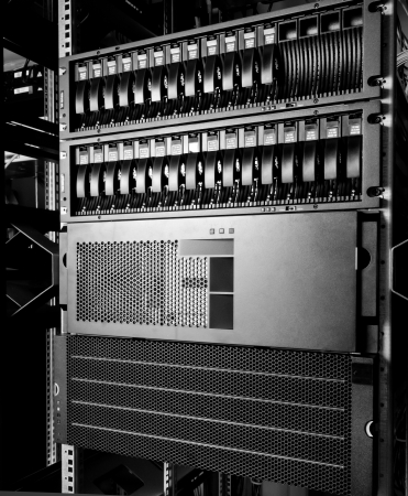 detail of data center with hard drives Stock Photo - 13730065