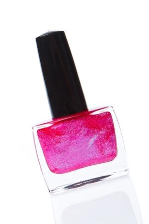 nail polish isolated on white background photo