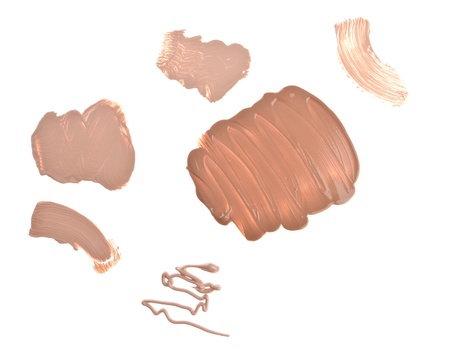 makeup foundation isolated on white background photo