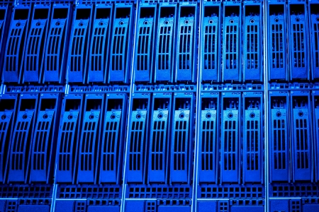 Data center with hard drives Stock Photo - 13815430