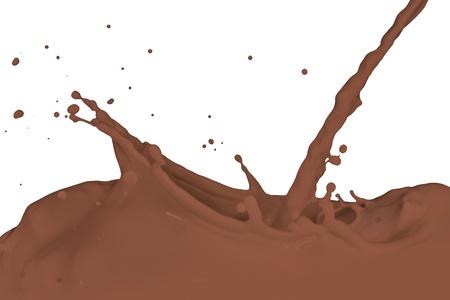 chocolate milk splash isolated on white background photo