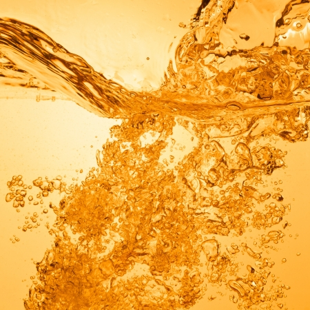 orange summer drink with bubbles Stock Photo - 13815363