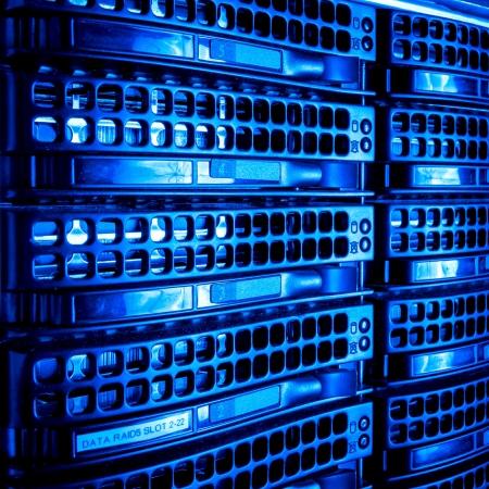 wan: Data center with hard drives