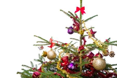 decorated christmas tree isolated on white background Stock Photo - 13970700