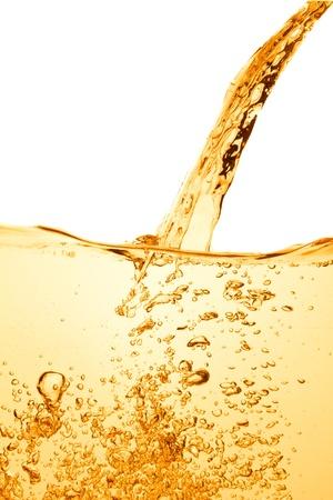 zomers drankje: orange summer drink with bubbles Stockfoto
