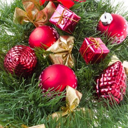 christmas wreath isolated on white background photo