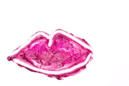 lips made of crushed lipstick isolated Stock Photo - 14400527