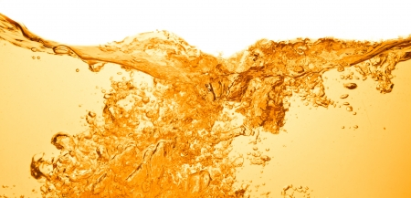 orange summer drink with bubbles photo