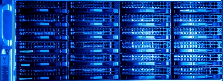 infraestructura: Del centro de datos con los discos duros