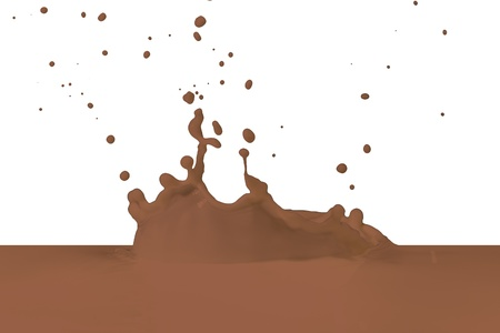 chocolate milk splash isolated on white background photo