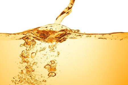 orange sommer Getränk mit Blasen