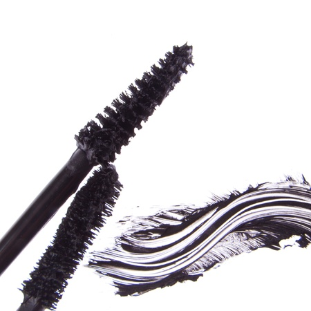 black mascara stroke isolated on white background Stock Photo - 15277972