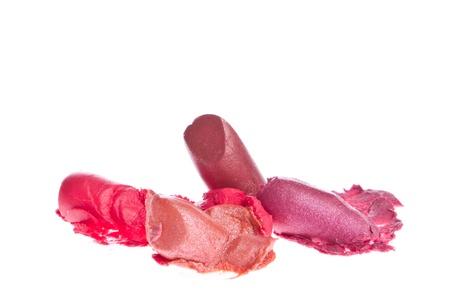 crushed lipsticks isolated on white background Stock Photo - 15277950