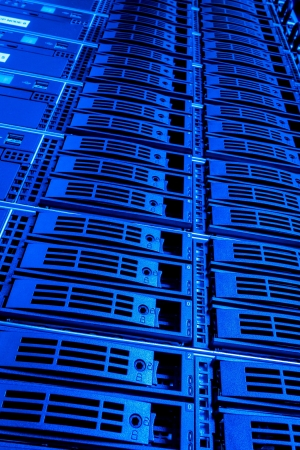 Data center with hard drives Stock Photo - 15521962