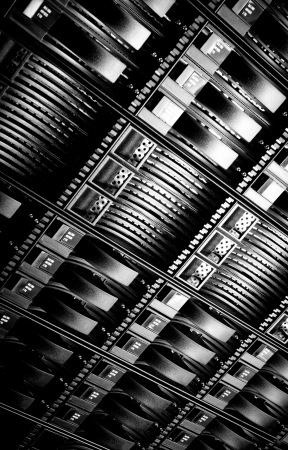 detail of data center with hard drives Stock Photo - 16058607