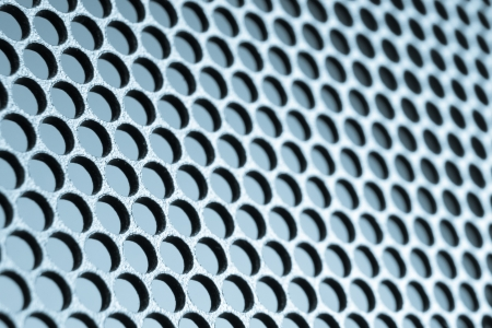 clinical research: abstract metal grid background