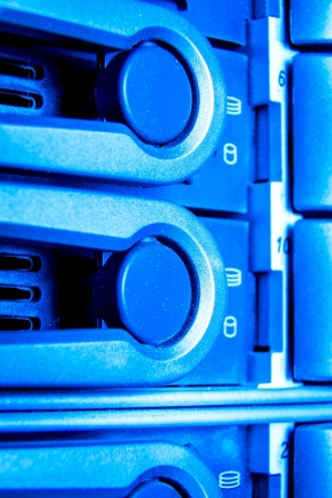 detail of data center with hard drives Stock Photo - 16470906